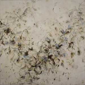 Flurry, encaustic on canvas over panel, 60 x 60 inches