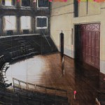 Lecture Theatre/Liverpool, 2015, Acrylic on panel, 48 x 72 inches