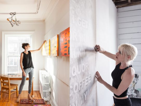 Jil Weinstock and Amanda Manitach, In their Studios
