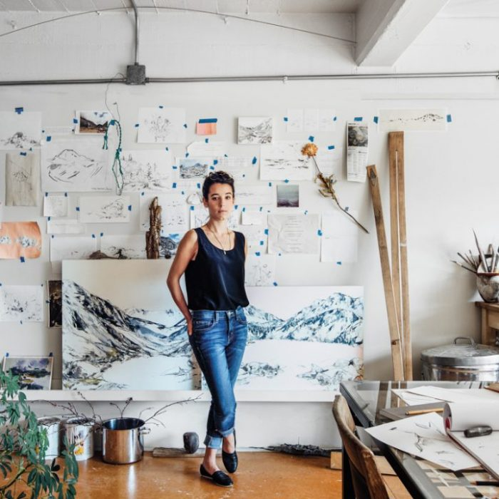 Mya Kerner in her studio, photographed by Rafael Soldi