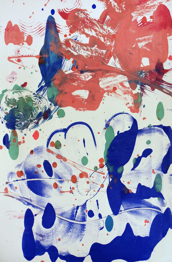 Catherine Howe, Monotype No. 7, 2020, Acrylic on rag paper 40 x 26 1/2 inches